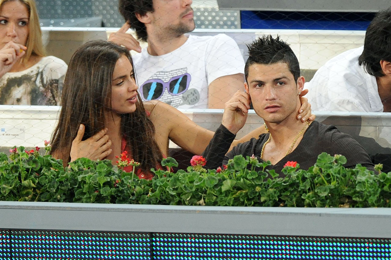 Cristiano Ronaldo and Irina Shayk attend the Mutua Madrid Open tennis tournament at La Caja Magica.