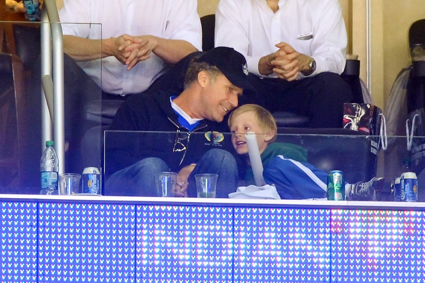 Will Ferrell and his son Magnus attend Game Three of the Stanley Cup Final between the Los Angeles Kings and New Jersey Devils on June 4, 2012 at Staples Center in Los Angeles.