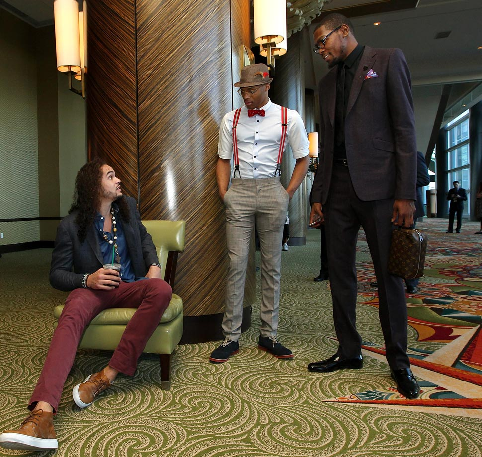 with Joakim Noah and Kevin Durant