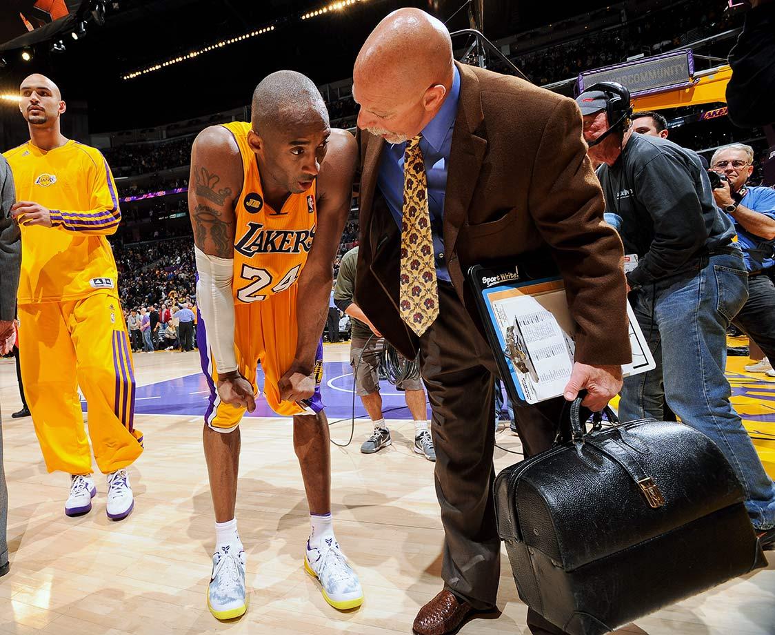 Kobe Bryant and Gary Vitti