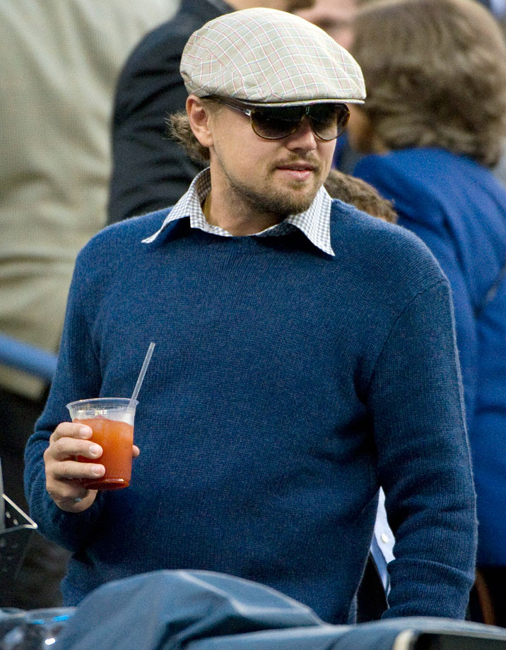 Leonardo DiCaprio attends the U.S. Open Men's Singles Final between Rafael Nadal and Novak Djokovic at the Billie Jean King National Tennis Center in Flushing, N.Y.
