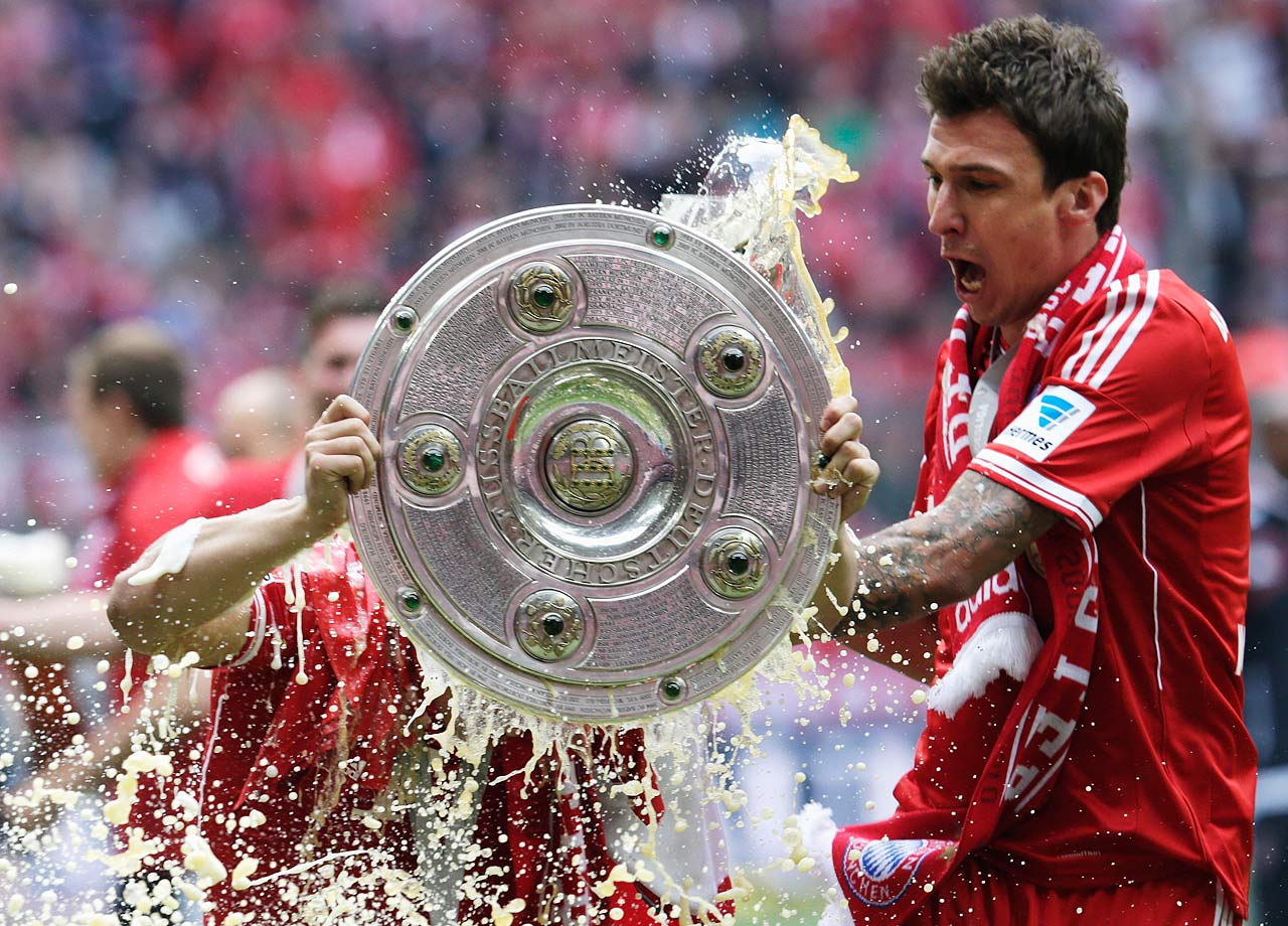 Bayern Munich wins the Bundesliga with six games left, the earliest a champion has ever secured the title. Bayern also sets the record for most points in a season, most wins in a season, and fewest defeats.