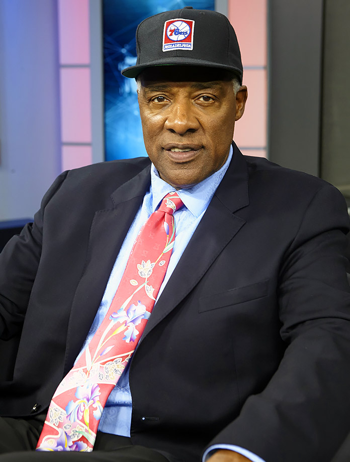 Dr. J smiles while taping an episode of SI Now in 2013.