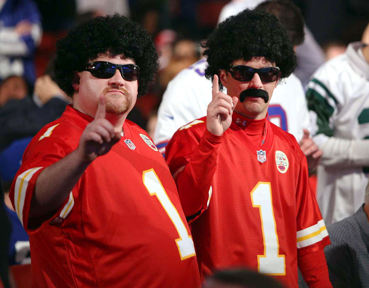 Kansas City Chiefs fans in 2013.