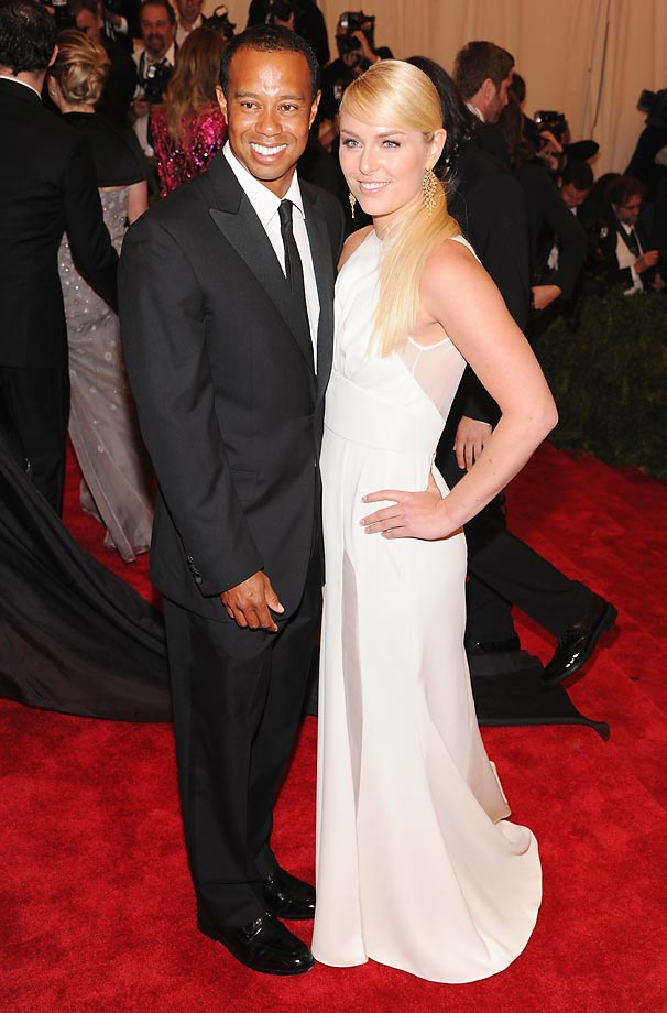 Lindsey Vonn and Tiger Woods.