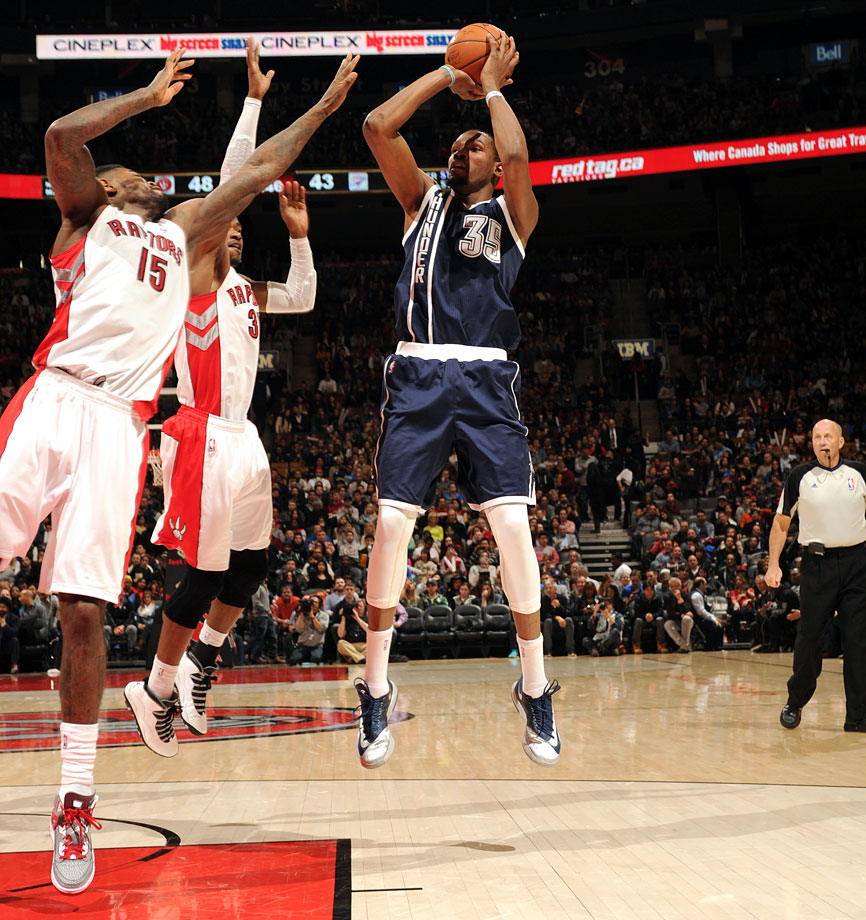 51 vs Toronto (March 21, 2014 — Pictured), 54 vs Golden State (Jan. 17, 2014), 52 vs Dallas (Jan. 18, 2013), 51 vs Denver (Feb. 19, 2012)