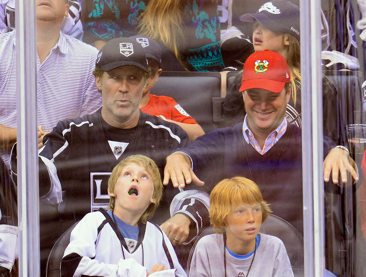 Will Ferrell and Chris O'Donnell attend Game Four of the Western Conference Final between the Los Angeles Kings and Chicago Blackhawks on May 26, 2014 at Staples Center in Los Angeles.
