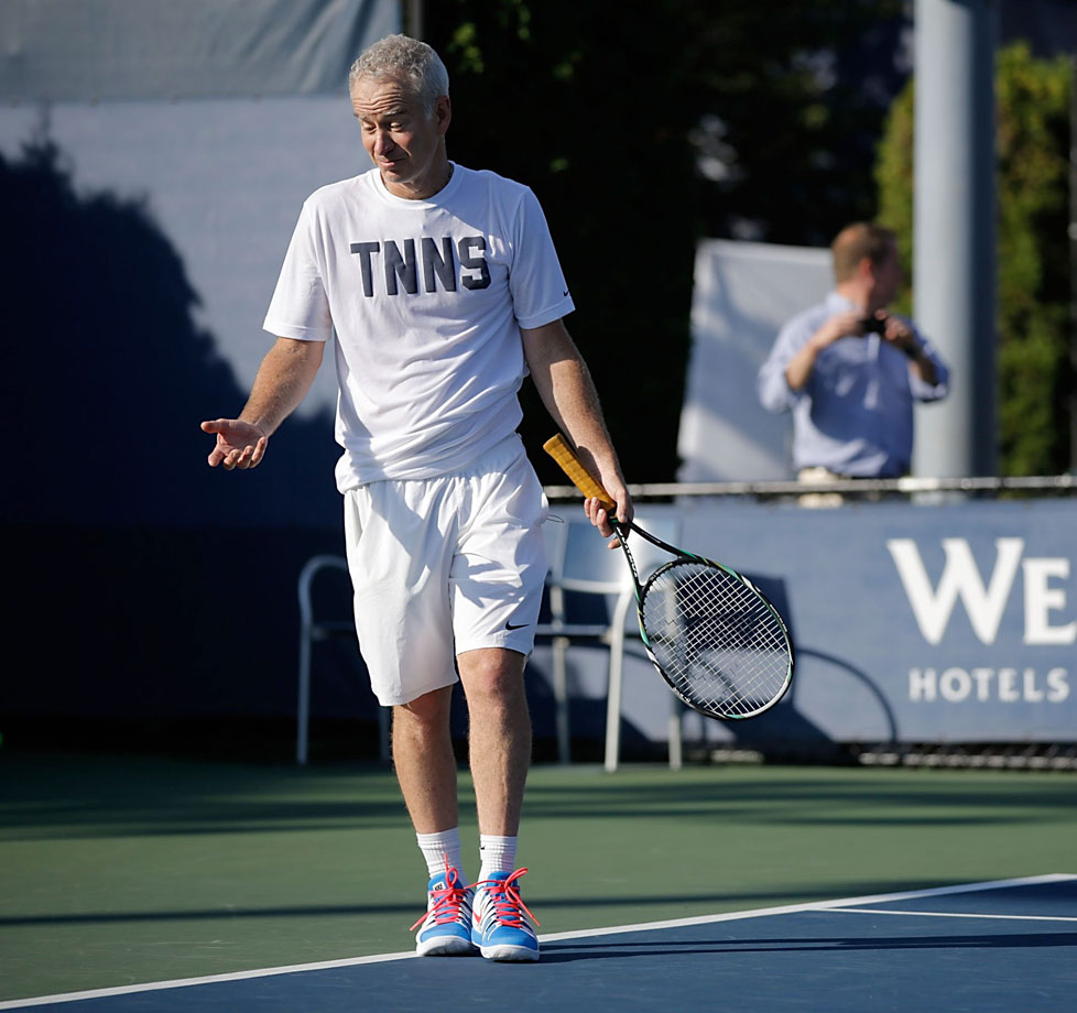 John McEnroe suggested that tennis do away with umpires and line judges and let players make their own calls to create more fan interest.