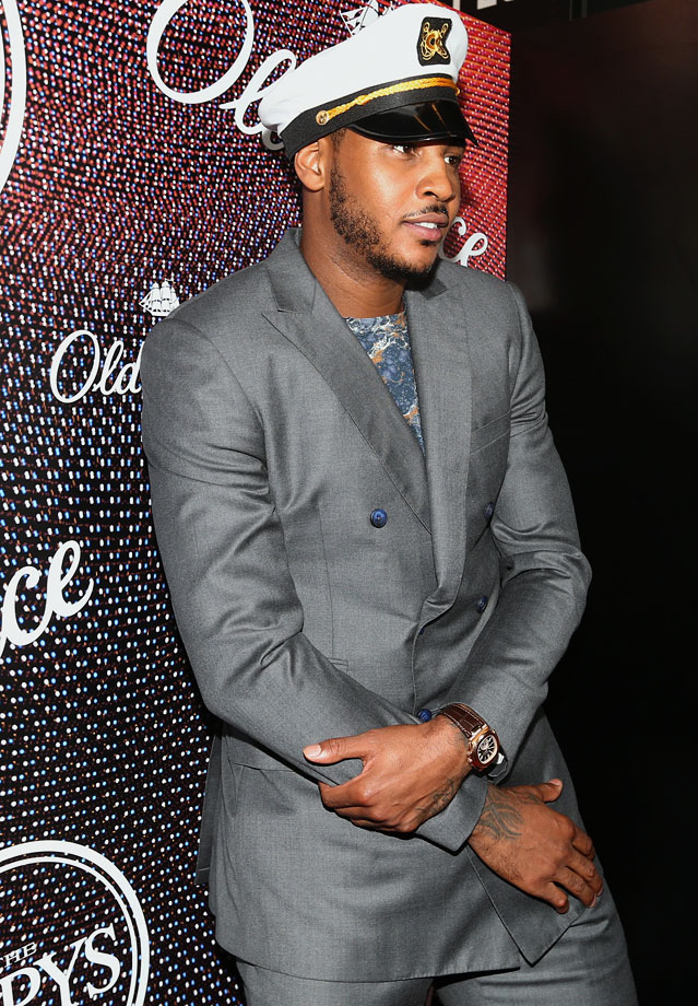 Carmelo Anthony attends the 2014 ESPYS at Nokia Theatre L.A. Live in Los Angeles.