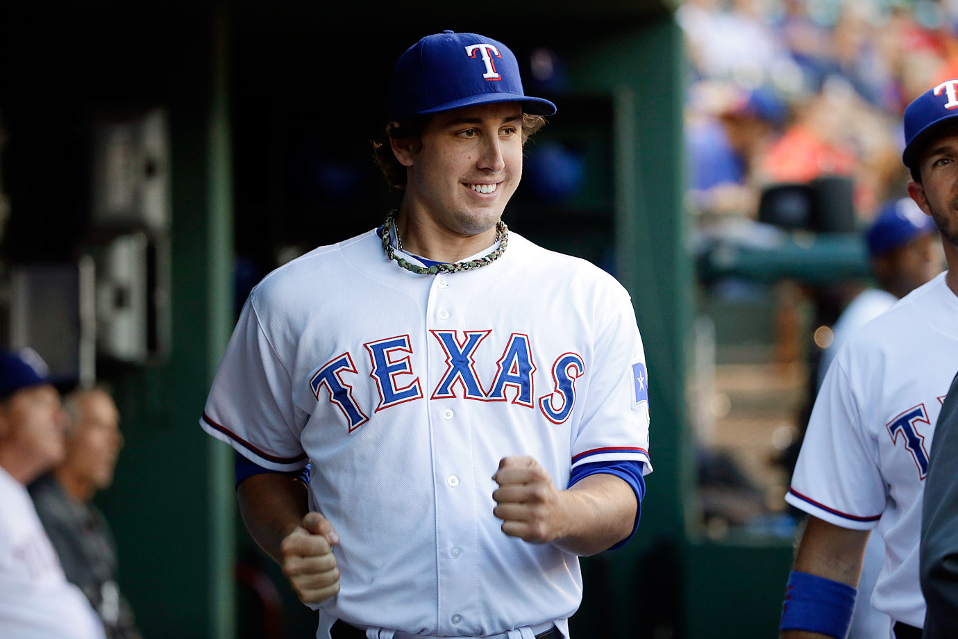 Lefthander Derek Holland says he and his fellow Rangers pass time in the bullpen by playing fart-bottle roulette.