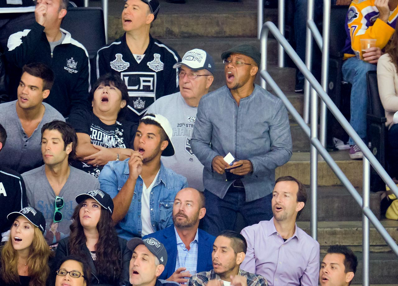 Oct. 8, 2014: Los Angeles Kings vs. San Jose Sharks at Staples Center in Los Angeles