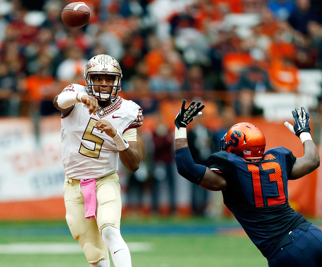 Winston contributed one of his best outings of the season, completing 30-of-36 passes for 317 yards with three touchdowns and no interceptions. The nearly flawless performance helped the Seminoles jump out to a 31-6 lead by midway through the third quarter.