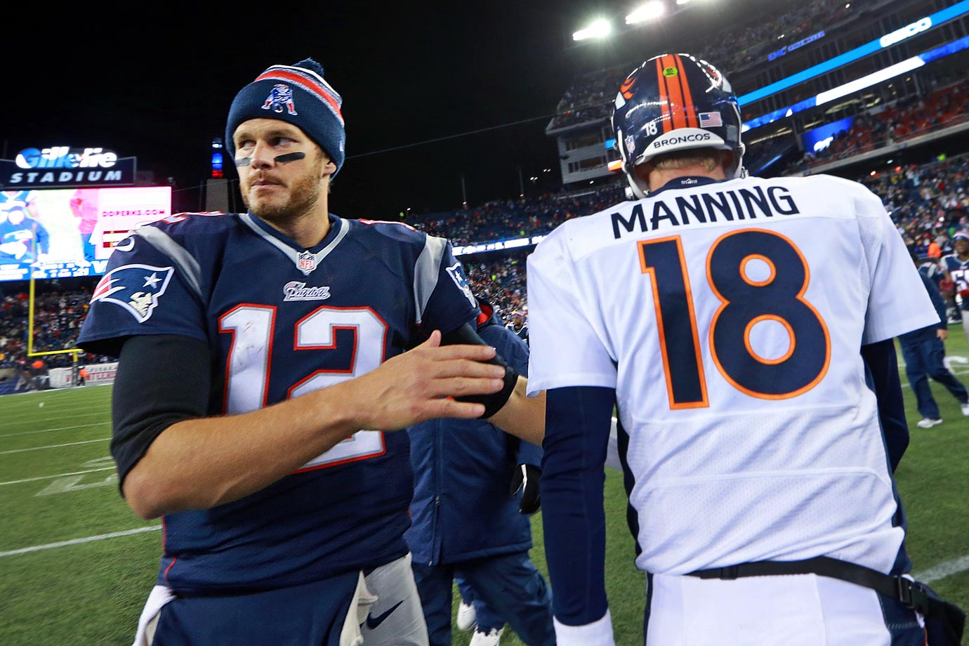 New England continued to steamroll opponents with a 43-21 win over Denver in a rematch of last season's AFC Championship game. Brady threw for four touchdowns and 333 yards, while Peyton Manning threw for 438 yards and two scores. Manning and Brady combined for 110 pass attempts, while Gronkowski caught nine passes for 105 yards.