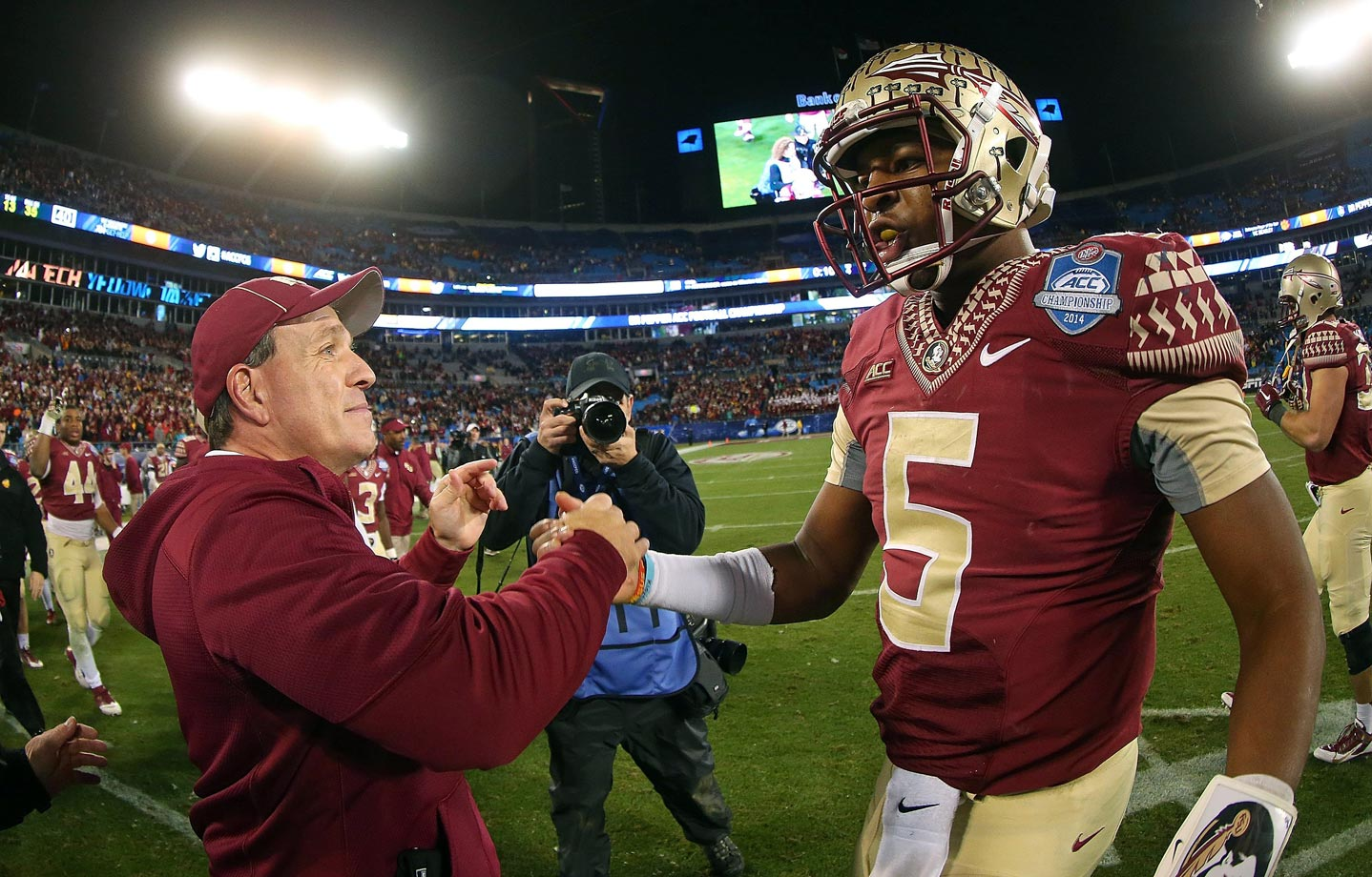 Winston rebounded from his dismal outing against Florida to throw for 309 yards and three touchdowns, and the Seminoles claimed the ACC title. Georgia Tech's triple-option attack churned up 331 yards on the ground but couldn't keep pace with an in-sync Florida State offense.