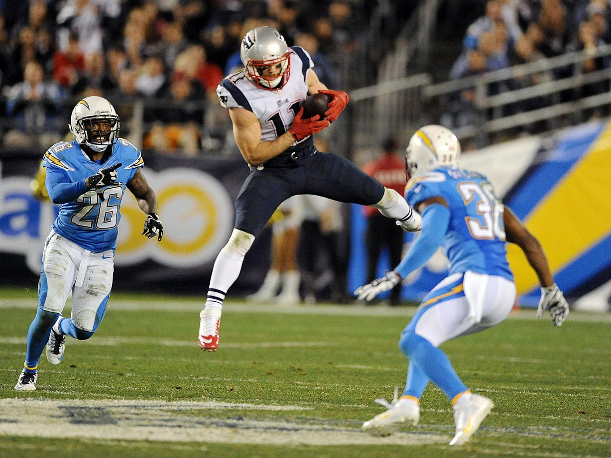New England's defense held San Diego scoreless in the second half, locking up a 24-13 victory. Julian Edelman caught eight passes for 141 yards and a score for the Pats, and a field goal put New England ahead for good early in the fourth quarter.