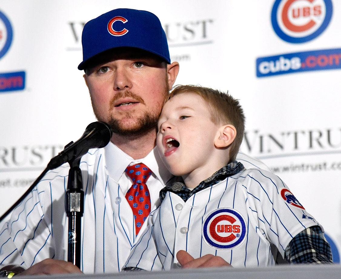 Jon Lester and son Hudson