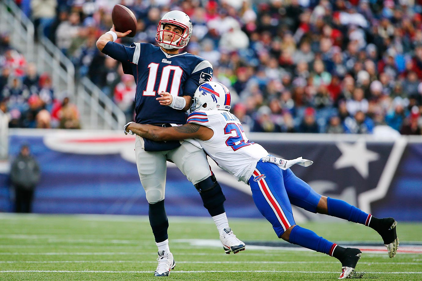 Resting most of their key players, New England lost to Buffalo 17-9 in a meaningless Week 17 game. Patriots rookie quarterback Jimmy Garoppolo saw his first significant action of the season, completing 10 of his 17 passes for 90 yards.