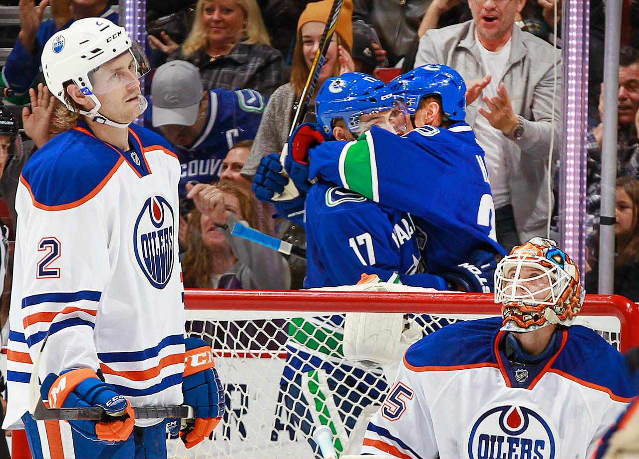 Edmonton's endless rebuild continued with a ninth straight playoff DNQ followed by a disastrous 6-13-2 start to 2014-15 that left the Oilers mudwrestling in the NHL's basement with the sad likes of the Buffalo Sabres, Carolina Hurricanes and snake-bitten Columbus Blue Jackets. At least the Oil picked a good year to remain putrid, as the 2015 NHL Draft class boasts franchise-altering talent. Probably won't help, though.