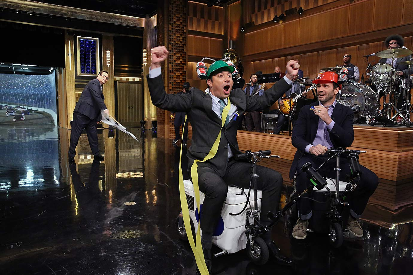 "September 10, 2014 — Filming ""The Tonight Show Starring Jimmy Fallon"""