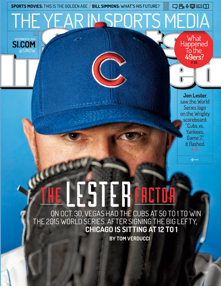 After weeks of speculation, ace pitcher Jon Lester turned down the San Francisco Giants and Boston Red Sox and signed with the Chicago Cubs on Dec. 10, 2014. The three-time All-Star was traded midseason of 2014 by the Red Sox to the Oakland Athletics, with whom he went 6-4 with a 2.35 ERA in 11 starts.  Through nine seasons, Lester has a 116-67 record.
