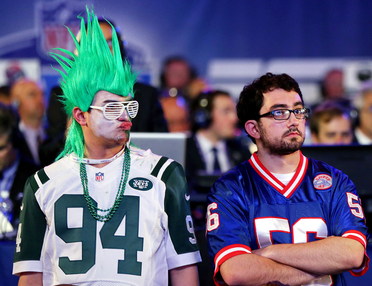 New York Jets and Giants fans in 2014.