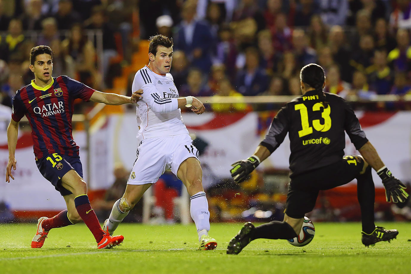 Gareth Bale emerges as the hero, scoring the winning goal in the Copa del Rey final in highlight-reel fashion.