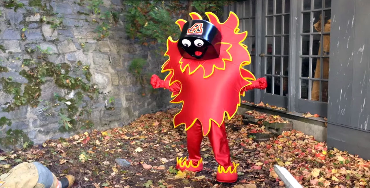 The AHL's Adirondack Flames were forced to snuff their new mascot after his debut video in October depicted him killing a firefighter. The team issued an apology and team president Brian Petrovek vowed that the Flames's next mascot would be associated with fun, not fear … or pyromania.