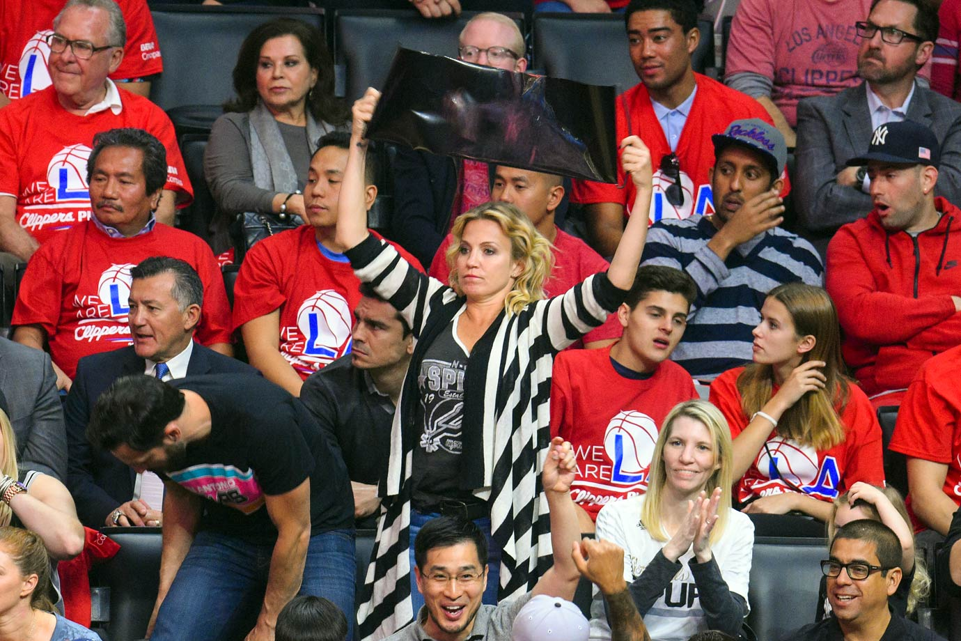 April 19, 2015: Los Angeles Clippers vs. San Antonio Spurs at Staples Center in Los Angeles — Western Conference Quarterfinals, Game 1