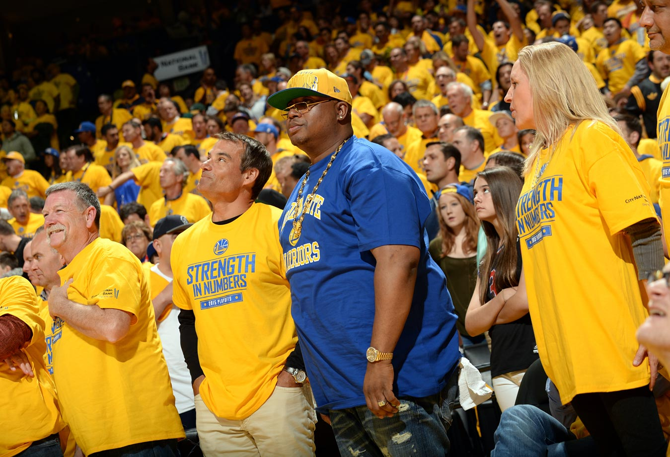 April 20, 2015: Golden State Warriors vs. New Orleans Pelicans at ORACLE Arena in Oakland, Calif. — Western Conference Quarterfinals, Game 2
