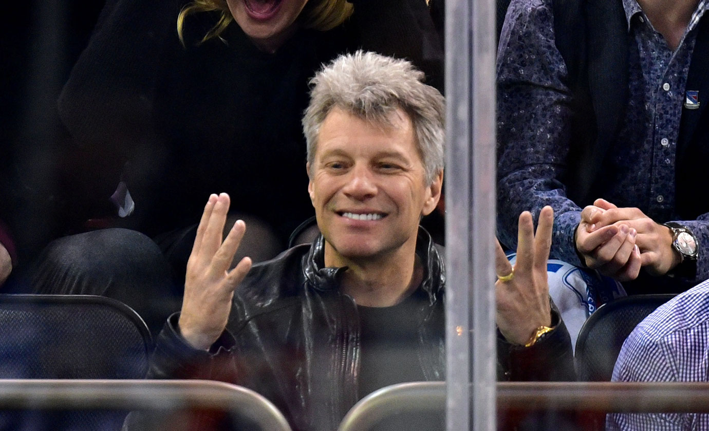 Celebrities at nhl playoff games for Bon jovi madison square garden