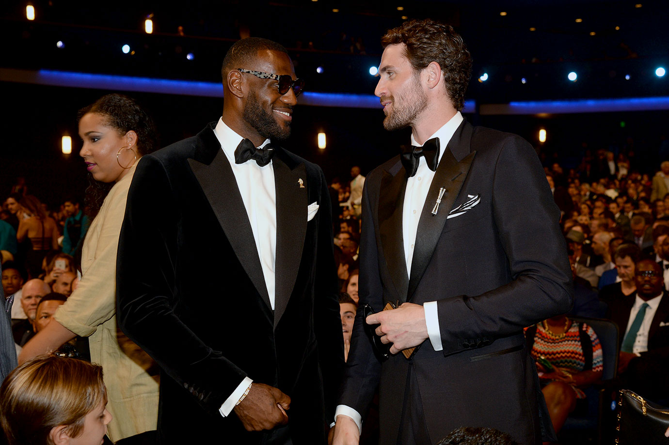 LeBron James and Kevin Love attend the 2015 ESPYS at Microsoft Theater in Los Angeles.