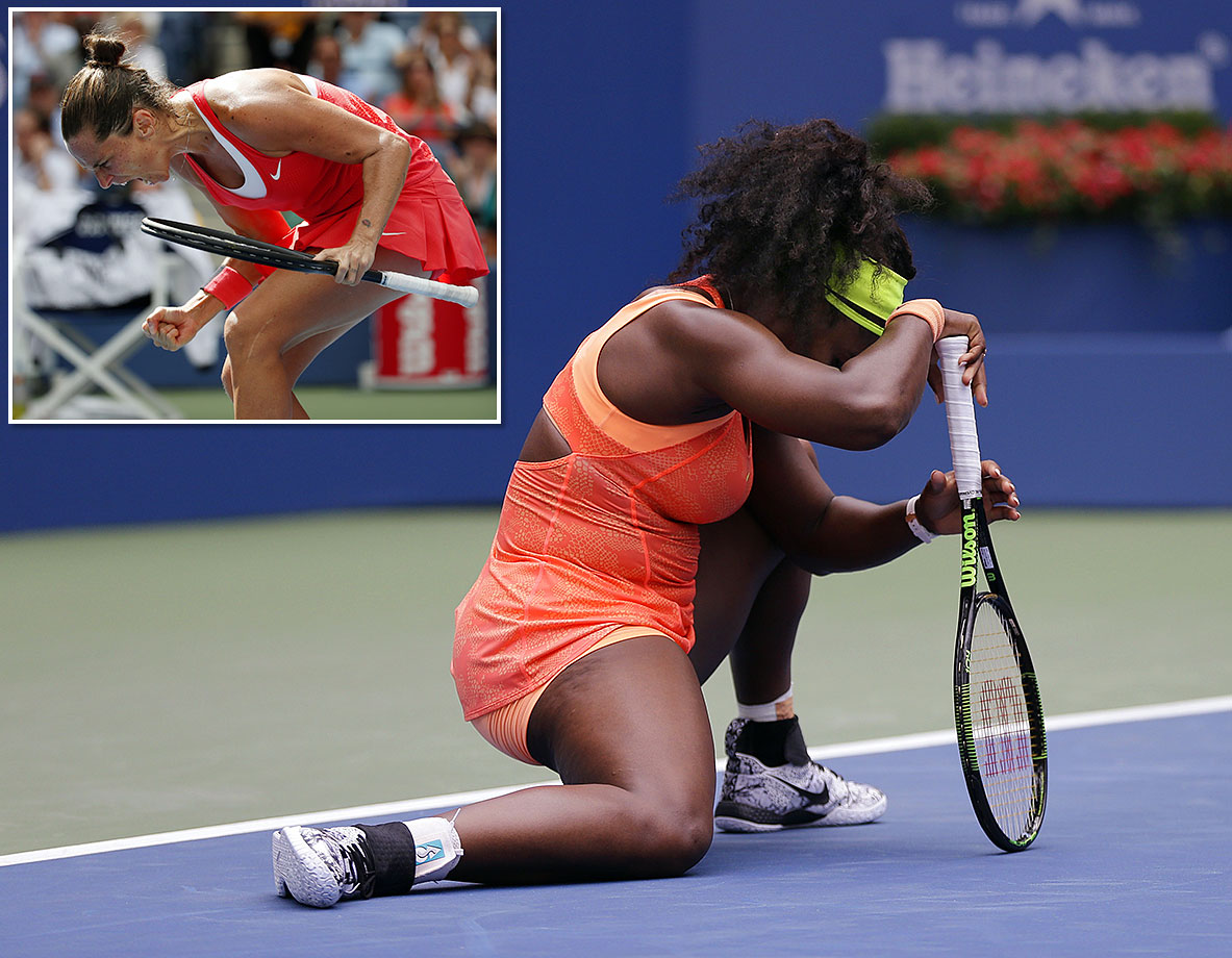Italy's Roberta Vinci beat the 300-1 odds against her to beat Serena Williams, who was all set to become the first tennis player to win a calendar-year Grand Slam since Steffi Graf in 1988. The 32-year-old, unseeded won their semifinal match in three sets, despite never even winning one set against Williams in their four previous matches.