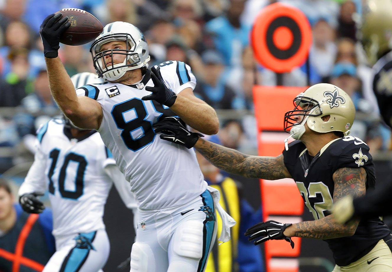 In their first division battle of the young season, Carolina hosted the New Orleans Saints in what turned out to be another close game. New Orleans jumped out to a 10-0 lead early in the second quarter, Carolina's biggest deficit during the season so far. The Panthers came back, led by Newton and tight end Greg Olsen, who caught eight passes for 134 yards and two touchdowns. Newton threw for 315 total yards and added 33 yards and a touchdown on the ground. The Panthers ended up winning 27-22.