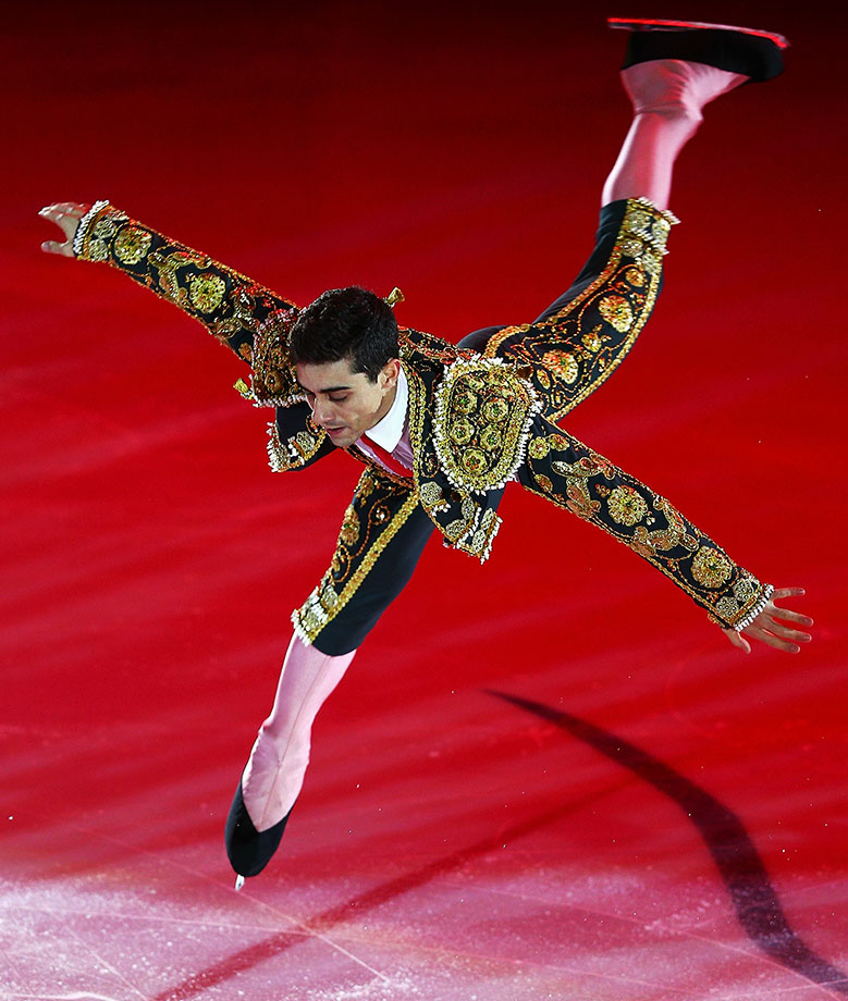 Figure skater Javier Fernandez dressed as a matador, as if any bull would even set foot on the ice?