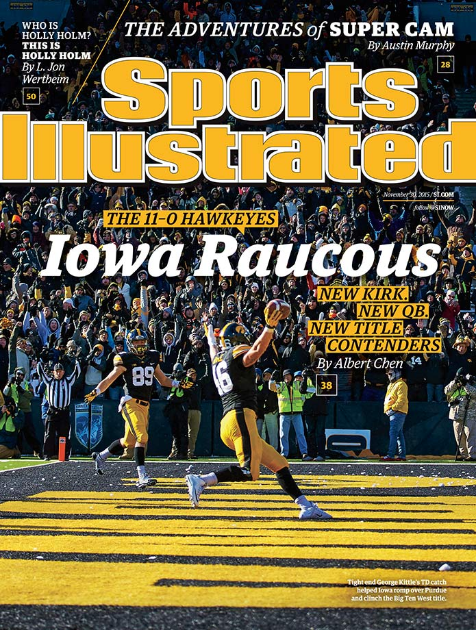 November 30, 2015 | Iowa football, which shares the Panthers' undefeated record, is featured on the regional cover delivered to the following locations: Missouri, Indiana, Michigan, Illinois, Wisconsin, Iowa, Nebraska, South Dakota, North Dakota, Minnesota.