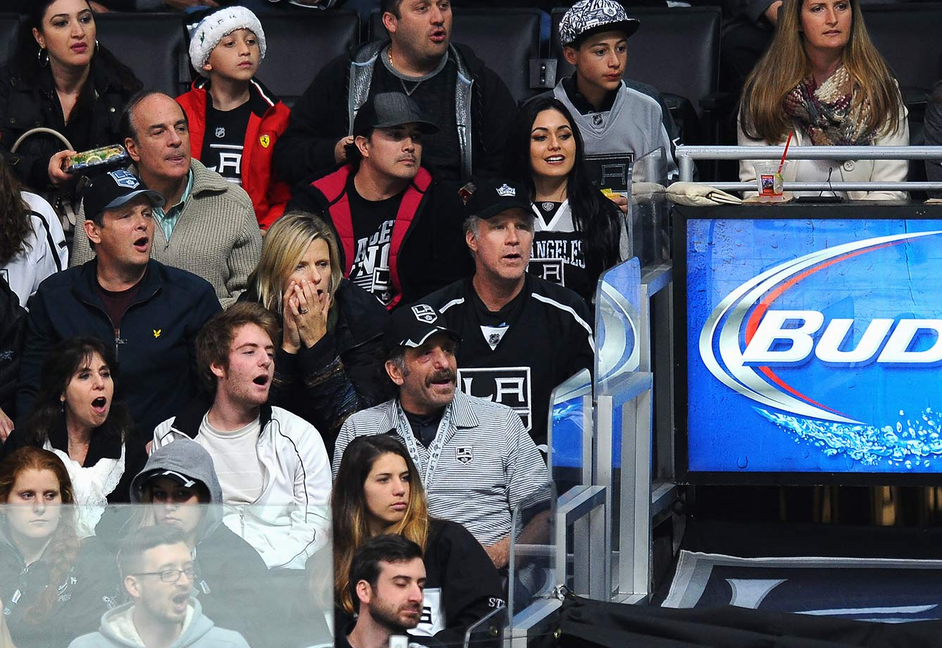 Los Angeles Kings vs. San Jose Sharks on December 22, 2015 at Staples Center in Los Angeles.