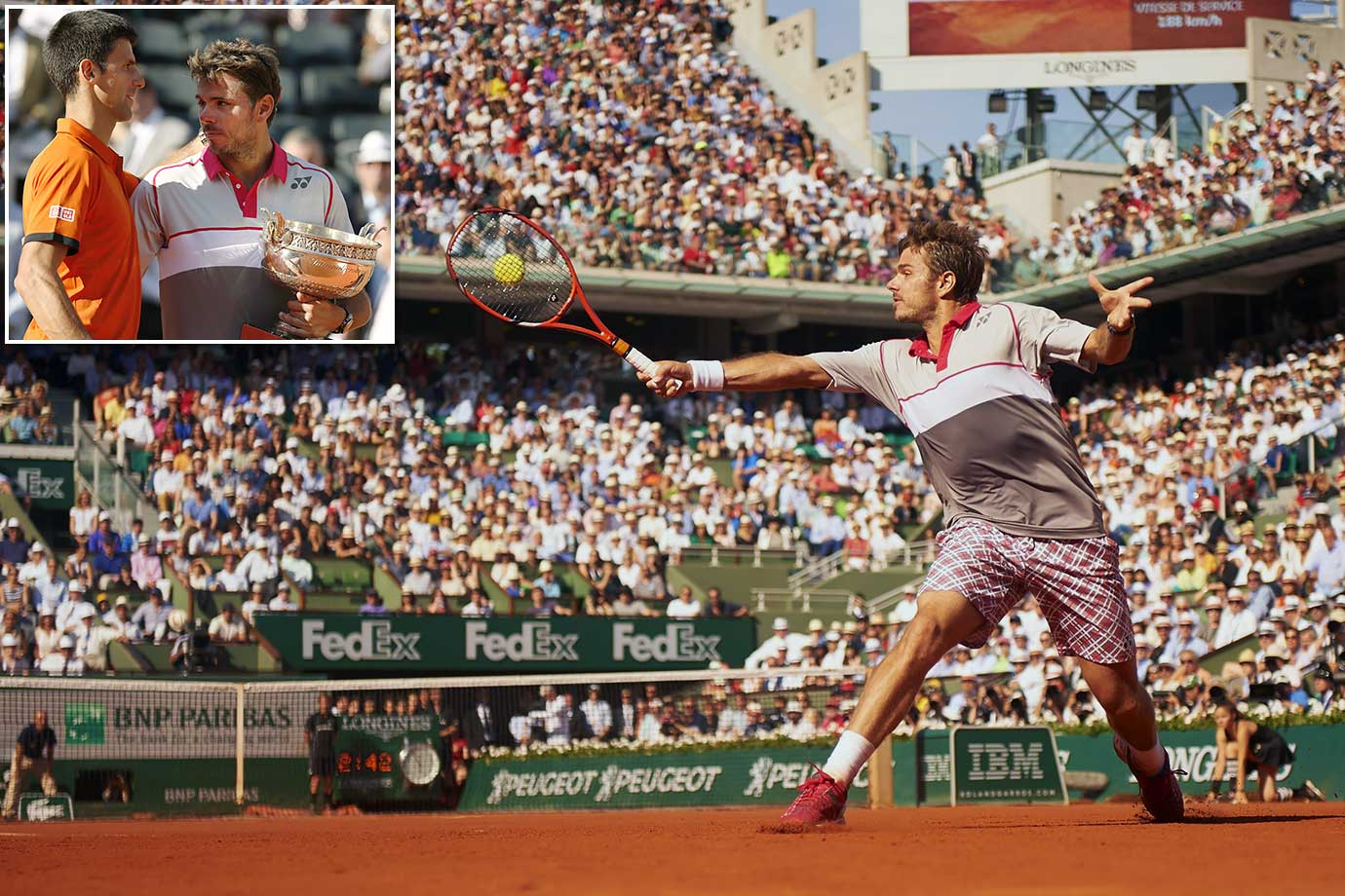 "After Novak Djovic beat the ""King of Clay,"" Rafael Nadal, in the quarterfinals, he seemed to be destined to become just the eighth man to complete the career grand slam. But Stan Wawrinka had other plans, losing just one set in the first five matches of the tournament, beating Djovic for the French Open title despite being the No. 8 seed."
