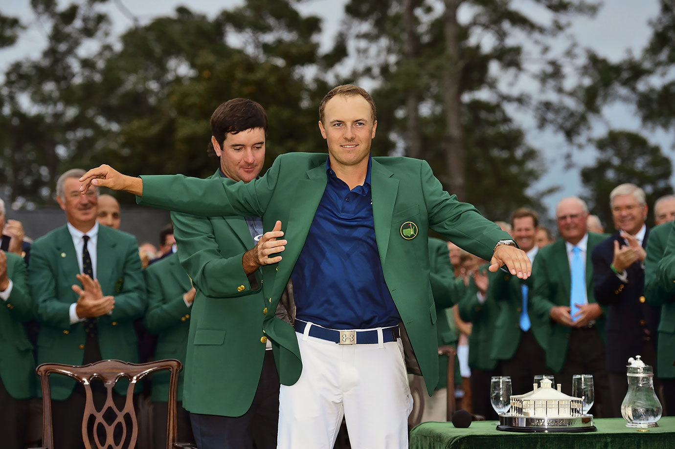Spieth made everyone in the golfing world take notice by winning his first Masters title at the age of 21 this spring. The 21-year-old led all four rounds, never letting anyone closer than three shots the entire way. He was the second-youngest champion, behind only Tiger Woods, and he followed up his green-jacket win by winning the 2015 U.S. Open just a few weeks later, becoming the sixth player to ever win the Masters and U.S. Open in the same year.