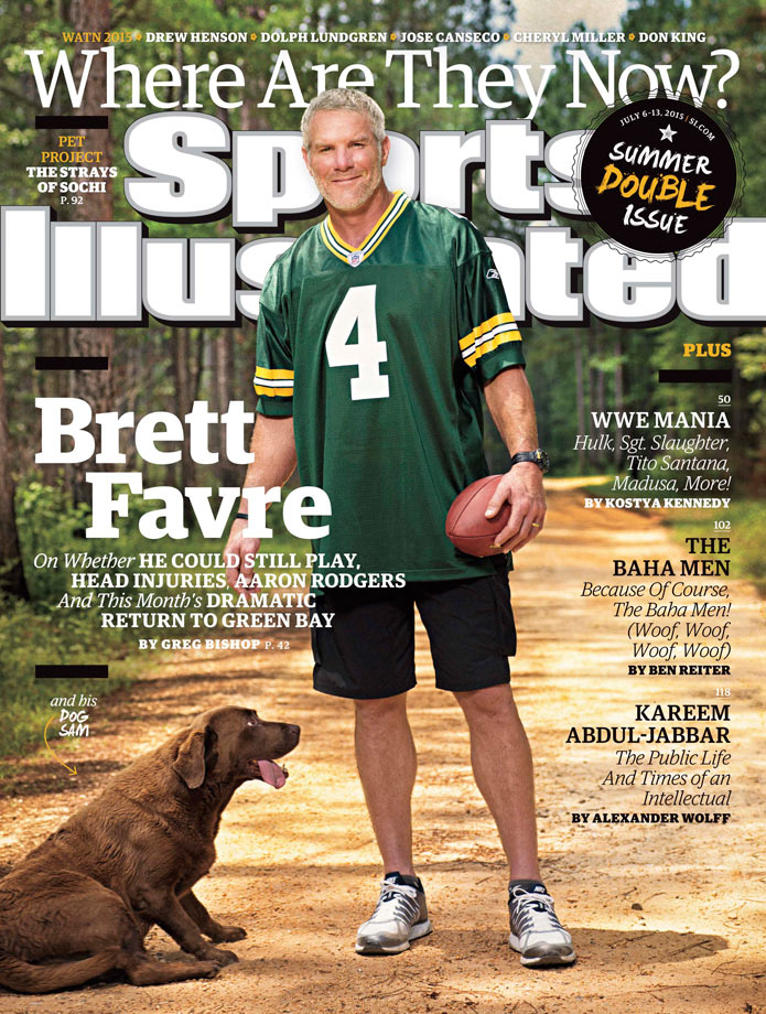 July 6-13, 2015 | Former Packers great Brett Favre finally is comfortable after retiring from the NFL for the final time five years ago.