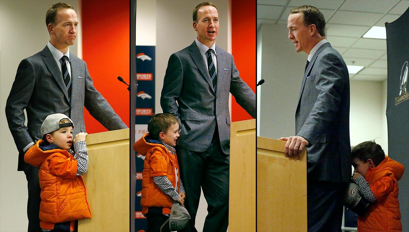 Peyton Manning and son Marshall