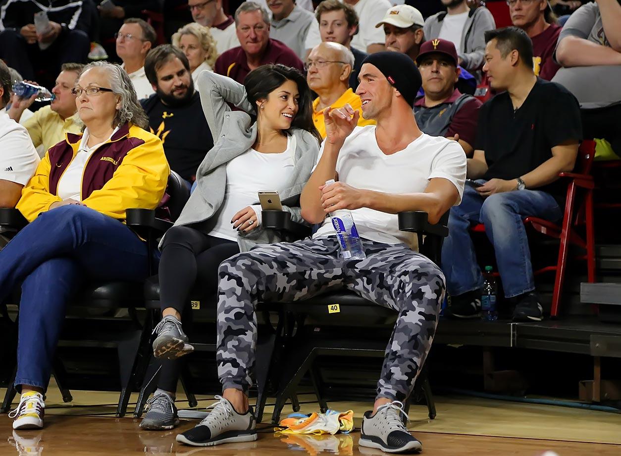Michael Phelps and fiancee Nicole Johnson