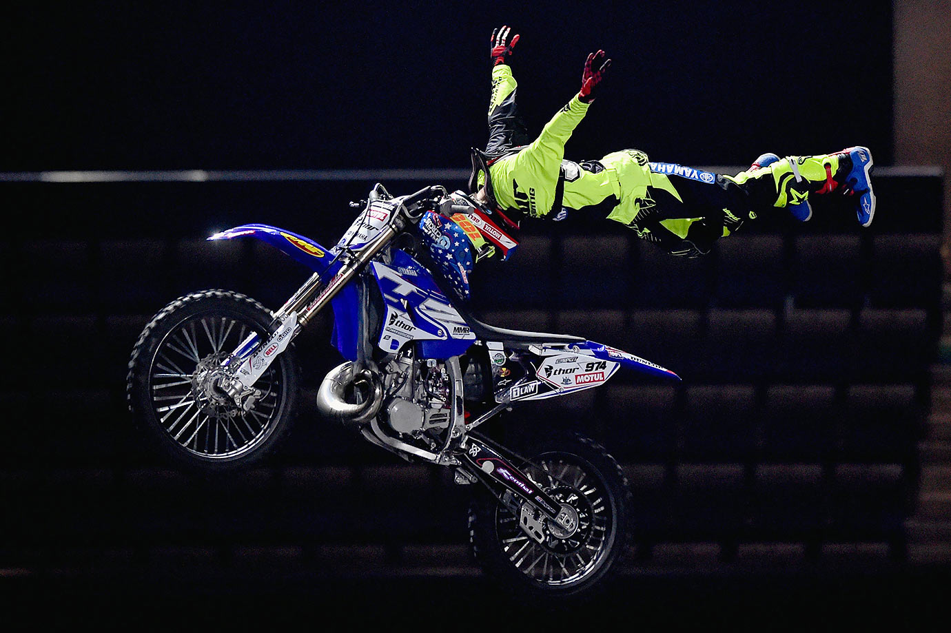 A members of Nitro Circus performs during rehearsals at the Hydro in Glasgow, Scotland.