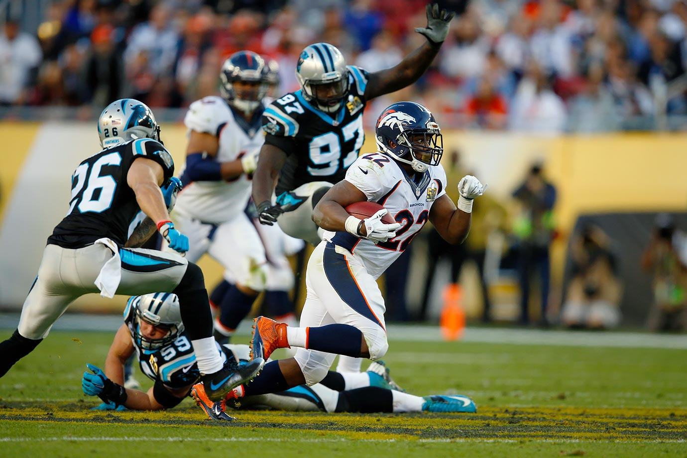 C.J. Anderson ripped off an impressive 34-yard run in the second quarter.