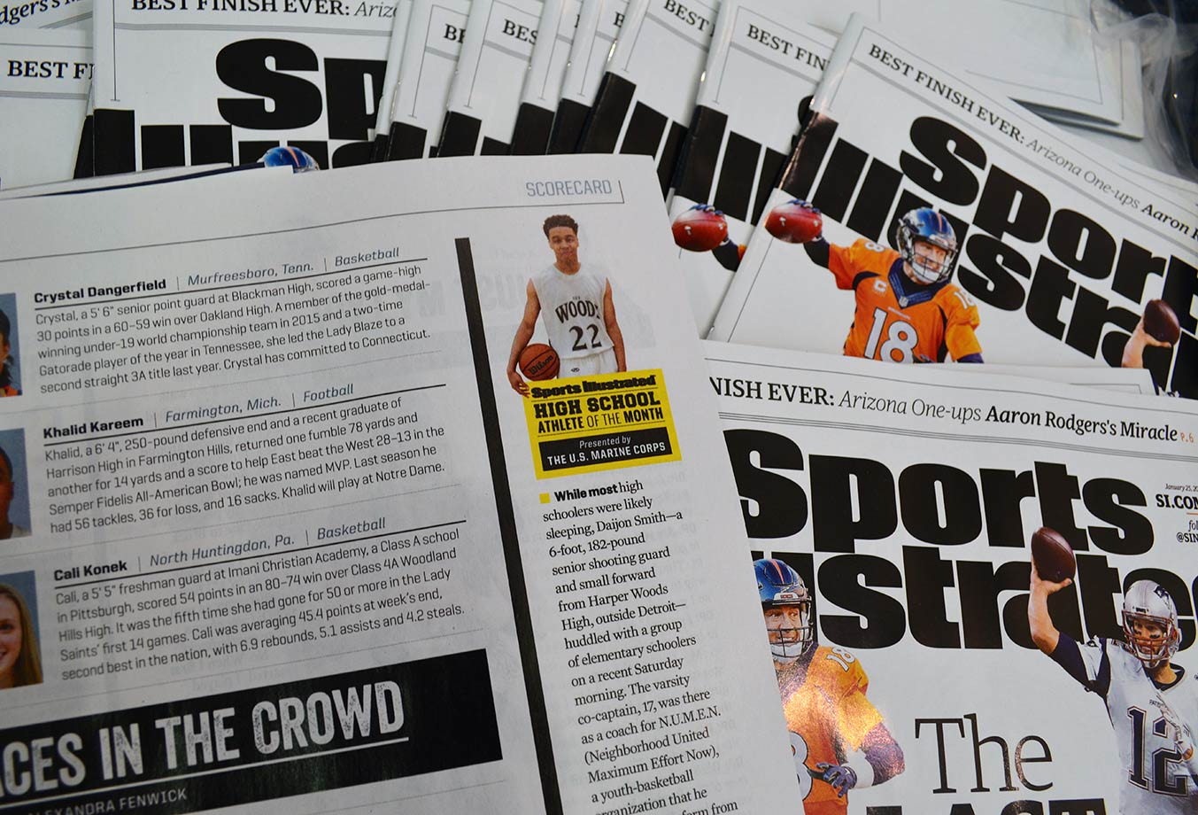 Daijon appeared in the Jan. 25 issue of Sports Illustrated.