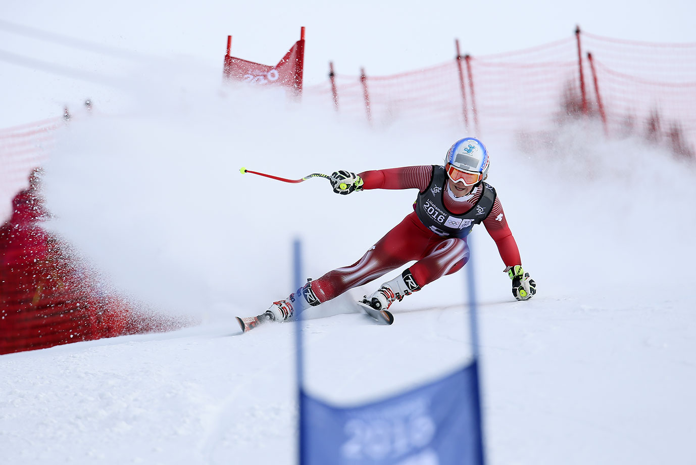 Melanie Meillard (SUI) competes in Alpine Skiing Ladies' Super-G at the Hafjell Olympic Slope on Feb. 13, 2016 during the Winter Youth Olympic Games in Lillehammer, Norway.