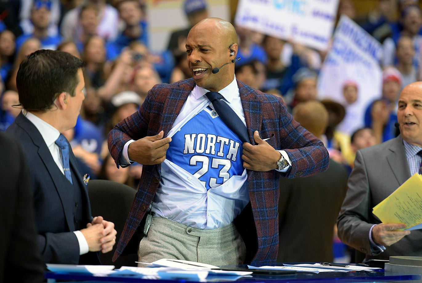 College GameDay host and Duke alumn Jay Williams reveals his prediction for the game between North Carolina and Duke in Durham, N.C.