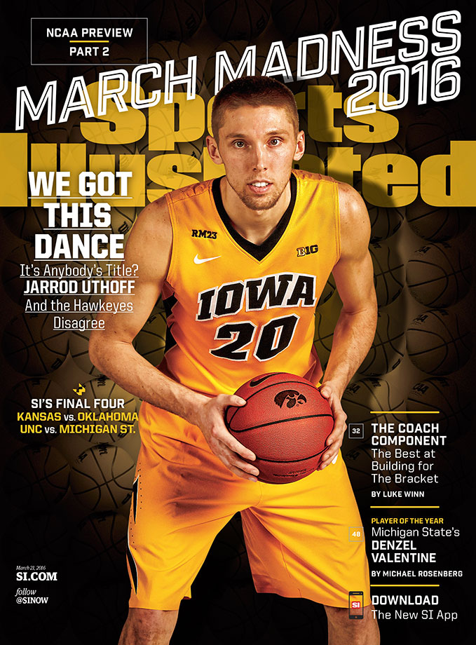 Iowa's Jarrod Uthoff rounds out the group of four regional March Madness covers.