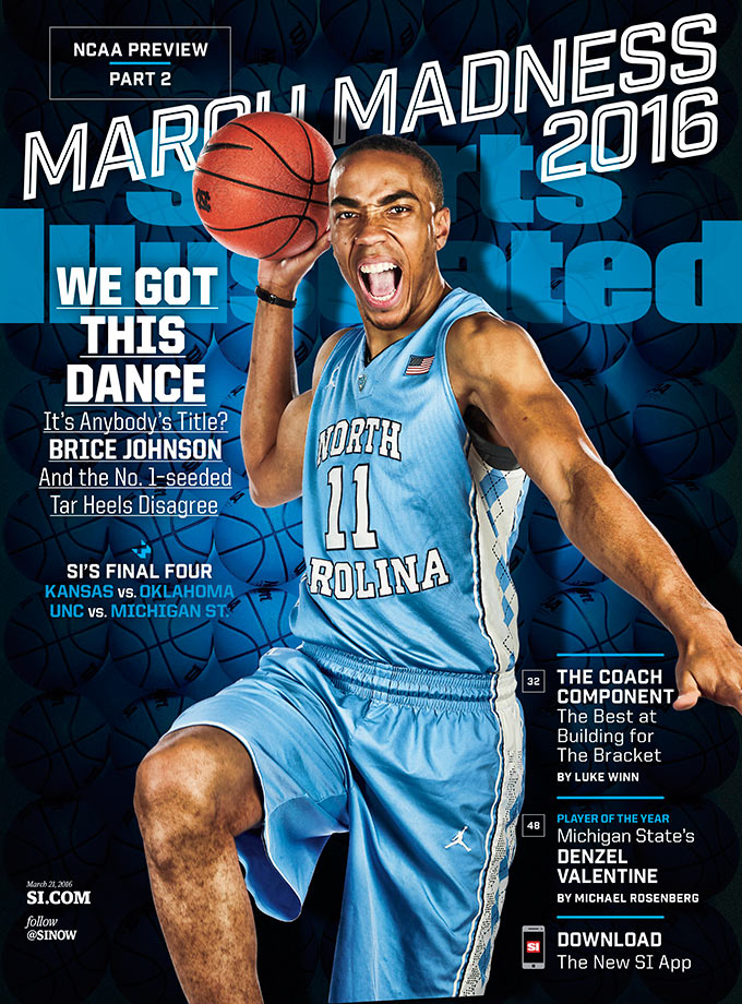 Senior forward Brice Johnson represents the Tar Heels on UNC's cover — one of four regional March Madness covers — which touts North Carolina as one of SI's picks to reach the Final Four.