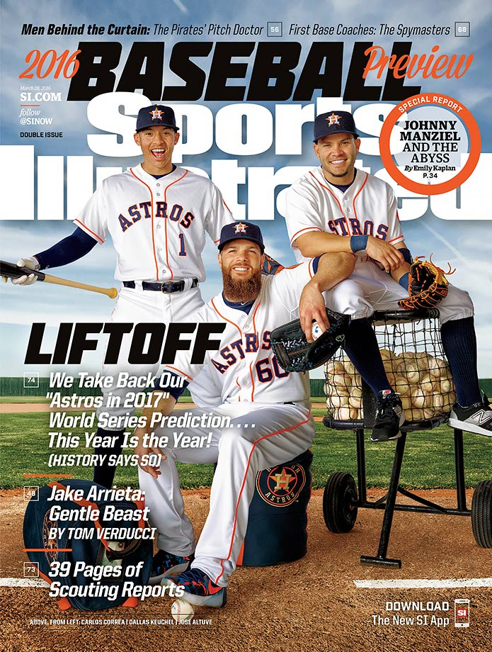 The Houston Astros, SI's pick to win the World Series, are represented by Carlos Correa, Dallas Keuchel and Jose Altuve on one of four regional covers.