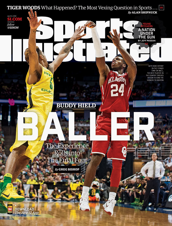 Oklahoma star Buddy Hield is featured on the regional cover of Sports Illustrated ahead of the Sooners' Final Four matchup with the Villanova Wildcats. SI's Greg Bishop writes about Hield's dazzling performance against Oregon in the Elite Eight, and explains why the Big 12 Player of the Year's dominance along with his infectious positivity has turned stars such as Kobe Bryant into fans.